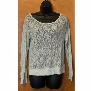 PINK Victoria Secret All Over Lace Long Sleeves